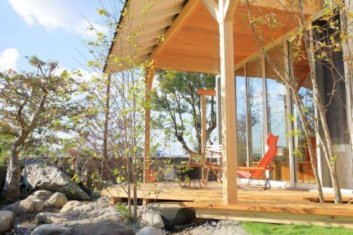 ウッドデッキ、日本庭園イメージ