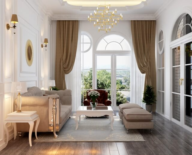 床、建具と家具を合わせる